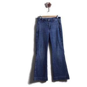 J Crew Extra High Rise Wide Leg Trouser Jeans